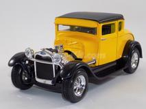 Ford Model-A 1929 Hot-Rod amarelo.